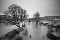 Paris Seine en crue (lemwan) Tags: nb france paris filtrelee longexposure sonya7r lemwan