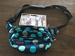 Love this fanny pack or belt bag by #jansport! So useful and handy especially if you're strolling at the beach or walking at the park with your kids! Can't wait for our the summer vacay! #jlsfinds (Travel Galleries) Tags: cute polka dots aqua navy blue black fashion ladies womens girls men's boys unisex fanny pack belt bag light roomy handy jlsfinds jansport