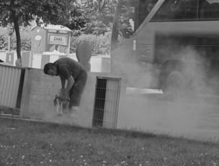 Poussières de travail. - Dust of work.