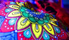 Cushion Art (a2roland) Tags: normanzeba2rolandyahoocom colorful cushion cover art design china fabric colors bokeh closeup flowers floral pretty beautiful thread emroiderey shop retail trade nikon 18g 20mm