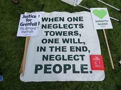 A message at the Grenfell protest outside Parliament, May 14, 2018 (Andy Worthington) Tags: london sw1 westminster politics grenfell londonsw1 protest politicalprotest andyworthington grenfelltower grenfelltowerfire parliament parliamentsquare housesofparliament streetphotography socialhousing councilhousing councilestates towerblocks placards