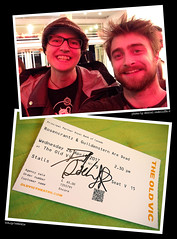 "20170426_i2 Me & Daniel Radcliffe! :D | After ""Rosencrantz & Guildenstern are dead"" (funny) at the Old Vic 