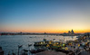 Venice: night skyline (filipmije) Tags: rood venice night skyline water sea laguna gondola evening sunset