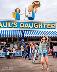 Paul's Daughter, Coney Island, NYC (235343) (John Bald) Tags: brooklyn coneyisland newyork paulsdaughter beach boardwalk dancing exterior ny summer youngwoman