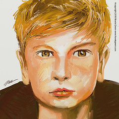 Boy face painting study sketch (Howie Green) Tags: boy face painting sketch