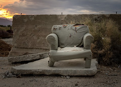 Cozy Seat (dwblakey) Tags: california ghosttown owensvalley zurich furniture easternsierra zurichstation history sky outdoors inyocounty evening junk bigpine unitedstates us
