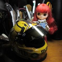 This is so cool! (jefalump) Tags: takara blythe middie furrybellabo nascar kylebusch helmet modelcar