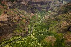 Kauai Heli Tour 15 - Waimea Canyon (lycheng99) Tags: waimea waimeacanyon canyon mountains valley redrock rockformation volcanicrocks red kauai hawaii tropical aerialview aerial creek maunaloahelicoptertours helicopter maunaloahelicopter tours travel landscape nature