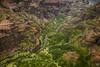 Kauai Heli Tour - Waimea Canyon (lycheng99) Tags: waimea waimeacanyon canyon mountains valley redrock rockformation volcanicrocks red kauai hawaii tropical aerialview aerial creek maunaloahelicoptertours helicopter maunaloahelicopter tours travel landscape nature