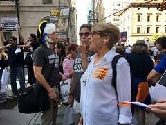 three (greenelent) Tags: notrump protest demonstration riseandresist streets people activists nyc newyork