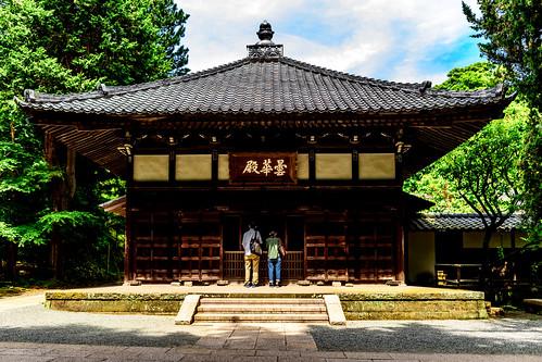 The Main Hall of Jochi-ji Temple, Kamakura : 北鎌倉・浄智寺 曇華殿(仏殿)