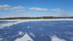 Horseshoe Lake (Mamluke) Tags: horseshoelake lake frozen winter ice show white edge shadows mamluke minnesota backusminnesota backus clouds trees firs fir glace ijs eis hielo ghiaccio snow neige sneeuw neve schnee nieve lac lago see meer blanc blanco bianco weis wit hiver invierno inverno