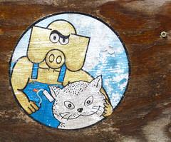 paint the cat (PTR) Tags: belgium hasselt streetstuff streetart graffiti sticker canon ptr