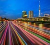 Rainbow River (kbaranowski) Tags: krzysztofbaranowski ©2014krzysztofbaranowski skytree tokyo tower lighttrail rainbow japan japaneseculture