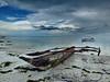Seaworthy ?? (louise peters) Tags: fishingboat vissersboot boot boat beach strand pingwe indianocean indischeoceaan sea zee water clouds sky wolken wolkenlucht sand zand seascape zeegezicht