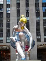 Seated Ballerina (kenjet) Tags: koon jeffkoons ballerina seatedballerina art installation ny nyc newyork newyorkcity rockefellercenter nylon inflatable sculpture artwork downtown manhattan city