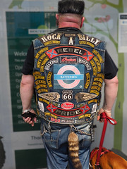 """My Friend Pete 2"" - Today at East Croydon Station (flavius200) Tags: david harford flavius200 england uk dorking photocraft portrait camera club white london surrey dog biker character man earrings rebel rock roll era"