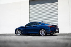 Infiniti Q60 S on TSW Turbina rotary forged wheels - Wheel Warehouse - 2 (tswalloywheels1) Tags: blue infiniti q60 q60s lowered coilovers springs tsw turbina concave staggered monoblock aftermarket rotary forged flow form flowform wheel wheels rim rims alloy alloys
