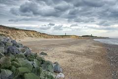 Happisburgh (Steve Hunt Photo) Tags: norfolk coast coastal sea beach landscape dramatic longexposure storm britain england clouds defences nikon d800 cliffs lighthouse church happisburgh