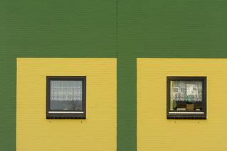Yellow and green facade