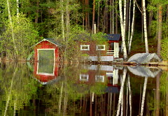 Flood and reflection... (irio.jyske) Tags: nature naturephoto naturepictures nice naturephotos naturescape naturephotographer naturepic naturephotograph naturepics natural photographer photo pic lake landscapepic lanscape landscapephotograph landscape landscapes landscapephotographer landscapephotos lakescape landscapepics house boathhouse cottage calm stone forrest trees beauty windows