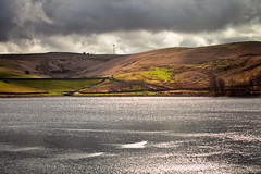 A Reservoir view (1) (Missy Jussy) Tags: clouds sky hills fields sunlight grass windmills water sunshine reservoir rochdale landscape lancashire land trees view moodylandscape moody moors 70200mm ef70200mmf4lusm ef70200mm canon70200mm 5d canon5dmarkll canon5d canoneos5dmarkii