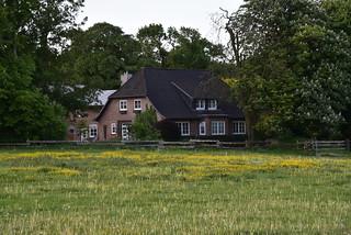 Bauernhof am Morgen; Bergenhusen, Stapelholm