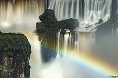 Iguazu Falls lookout of Argentine side (DeCastroJr) Tags: america argentina brazil falls iguassu paraguay south argentinian awesome blue brazilian cascade force foz holiday huge iguacu iguasu iguazu jungle