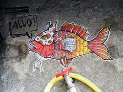 Pasted paper by Saveur Graffik [Lyon, France] (biphop) Tags: europe france lyon croixrousse streetart wheatpaste wheatpaper collage pasted paper pasteup saveur graffik