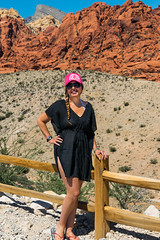 Desert Darling (tquist24) Tags: hww mojavedesert nevada nikon nikond5300 redrockcanyonnationalconservationarea wanda beautiful desert geotagged girl hat lady mountains park portrait pretty rocks sandstone scenery sky woman lasvegas unitedstates braid sunglasses