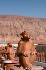 At the Flaming Mountains (10b travelling / Carsten ten Brink) Tags: 10btravelling 2017 asia asian asien carstentenbrink china chine chinese iptcbasic prc peoplesrepublicofchina silkroad tarim tulufan turfan turpan xinjiang basin monkeys tenbrink 中华人民共和国 中国 吐魯番