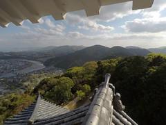 Castle vSW _orig_LG (Hazbones) Tags: iwakuni yamaguchi yokoyama castle kikkawa suo chugoku mori honmaru ninomaru demaru wall armor samurai spear teppo gun matchlock map ropeway