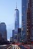 New York City | One World Trade Center 01 (Christopher James Botham) Tags: nyc newyork newyorkcity manhattan lowermanhattan batterypark battery park fidi financialdistrict worldtradecenter world trade center tower skyscraper building architecture som spire supertall street streetscape city cityscape urban skyline dusk longexposure