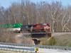 Rock Creek Crossing (tim_1522) Tags: railroad railfanning rail indiana in intermodal norfolksouthern ns lafayette district generalelectric gevo heritage lehighvalley 8104 bridge es44ac