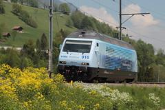 Loktaufe - Taufe der Lok der BLS Lötschbergbahn Lokomotive Re 465 016 - 4 mit Taufname Centovalli mit Werbung Stockhorn ( Hersteller SLM Nr. 5740 - ABB - IB 1997 - Werbelokomotive seit 04.05.18 ) in Erlenbach im Simmental im Kanton Bern der Schweiz (chrchr_75) Tags: christoph hurni schweiz suisse switzerland svizzera suissa swiss chrchr chrchr75 chrigu chriguhurni chriguhurnibluemailch albumzzz201805mai mai 2018 albumbahnenderschweiz albumbahnenderschweiz20180106schweizer bahnen bahn eisenbahn train treno zug bls lötschbergbahn elektrolokomotive triebfahrzeug lokomotive slm re 465 016 stockhorn werbelokomotive werbung ganzwerbung albumbahnblslötschbergbahn albumbahnblsre465 juna zoug trainen tog tren поезд паровоз locomotora lok lokomotiv locomotief locomotiva locomotive railway rautatie chemin de fer ferrovia 鉄道 spoorweg железнодорожный centralstation ferroviaria