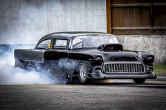 One Bad 55 (Paul Rioux) Tags: drag race car 1955 55 chevrolet chev chevy automobile vehicle racing motorsport competition burnout tire smoke westernspeedway prioux
