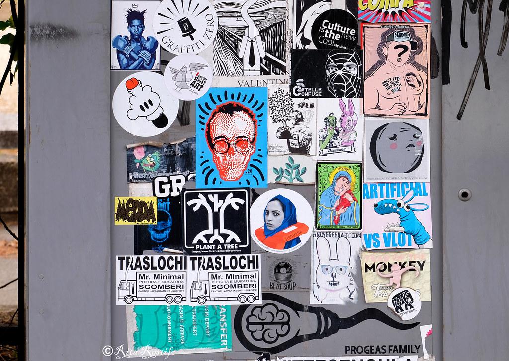 Sticker art by piskv graffiti zero mr minimal oral pro