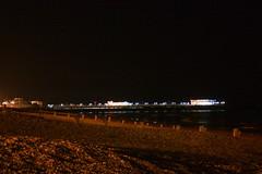 Worthing pier/beach (jeffhob) Tags: night long exposure beach pier worthing pebbles lights canon 450d amateur
