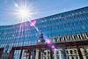 Blazing sun (Karsten Gieselmann) Tags: 714mmf28 blau em5markii fassade mzuiko microfourthirds olympus sonne blue front kgiesel m43 mft sun hamburg deutschland