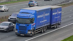 NJ63 URP (panmanstan) Tags: scania r440 wagon truck lorry commercial drawbar freight transport haulage vehicle a1m fairburn yorkshire