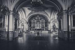 Nikolskiy morskoy sobor (Bartholomew K Poonsiri) Tags: shrine cathedral church chapel temple templo tempio worship saint sonyilce6000 sonyepz1650mmf3556oss wideangle indoor interior monochrome blackandwhite