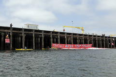 Activists Hold Protest Position (Greenpeace USA 2016) Tags: fossilfuel oil pipeline barge kindermorgan transmountain water banner activist seattle washington usa
