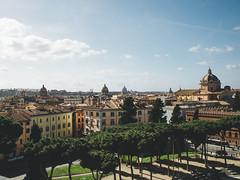 View above Piazza Venezia (kylearcilla) Tags: italy italia lanscape blue sky rome