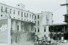 Demolition of the Empire Hotel, 1982 (vintage.winnipeg) Tags: manitoba canada vintage history historic winnipeg demolition