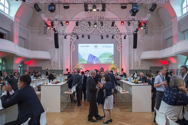 Guests enjoy the Presidency Reception, hosted by Latvia
