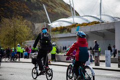 #POP2018  (132 of 230) (Philip Gillespie) Tags: pedal parliament pop pop18 pop2018 scotland edinburgh rally demonstration protest safer cycling canon 5dsr men women man woman kids children boys girls cycles bikes trikes fun feet hands heads swimming water wet urban colour red green yellow blue purple sun sky park clouds rain sunny high visibility wheels spokes police happy waving smiling road street helmets safety splash dogs people crowd group nature outdoors outside banners pool pond lake grass trees talking bike building sport