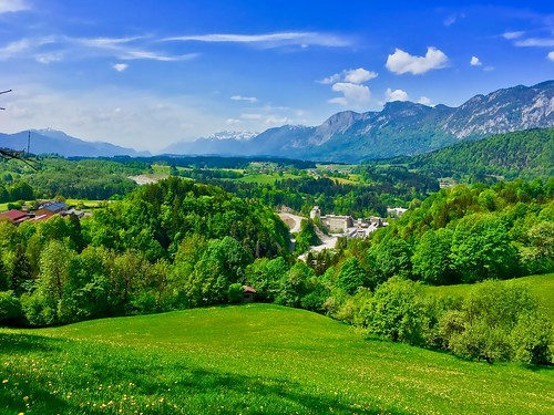 View over the river Inn valley, Tyrol, Austria