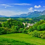 View over the river Inn valley, Tyrol, Austria thumbnail