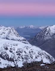 Belt of Venus over Glencoe (J McSporran) Tags: scotland highlands westhighlands glencoe buachailleetivebeag bideannambian aonacheagach ardgourmountains lochlinnhe