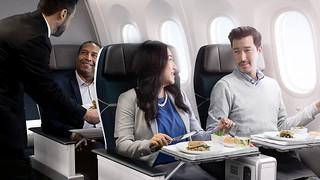 West Jet - premium economy dining